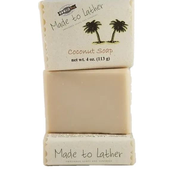 3 bars of coconut soap by Made to Lather
