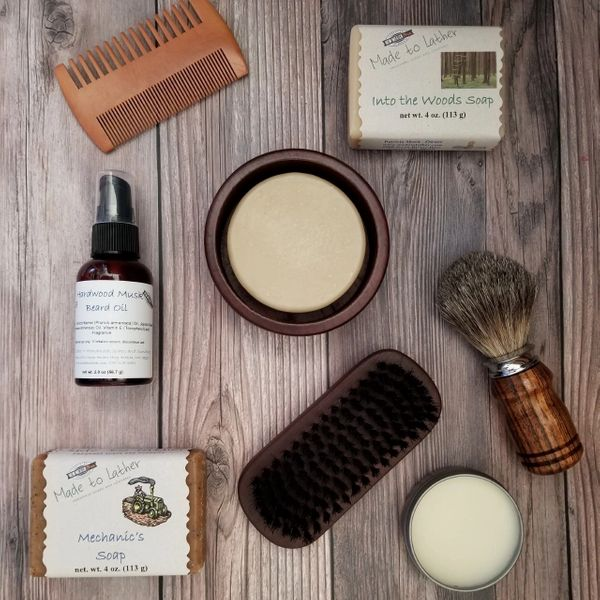 collection of men's care item by Made to Lather