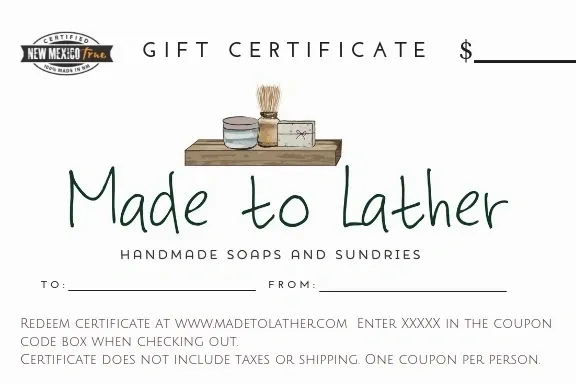 Made to Lather GIft Certificate