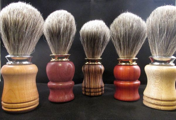 hand turned shaving brushes by Made to Lather