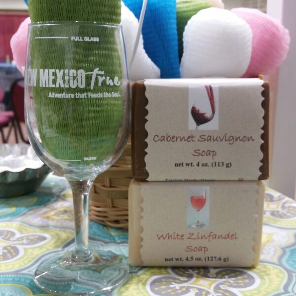 wine glass with soap by Made to Lather