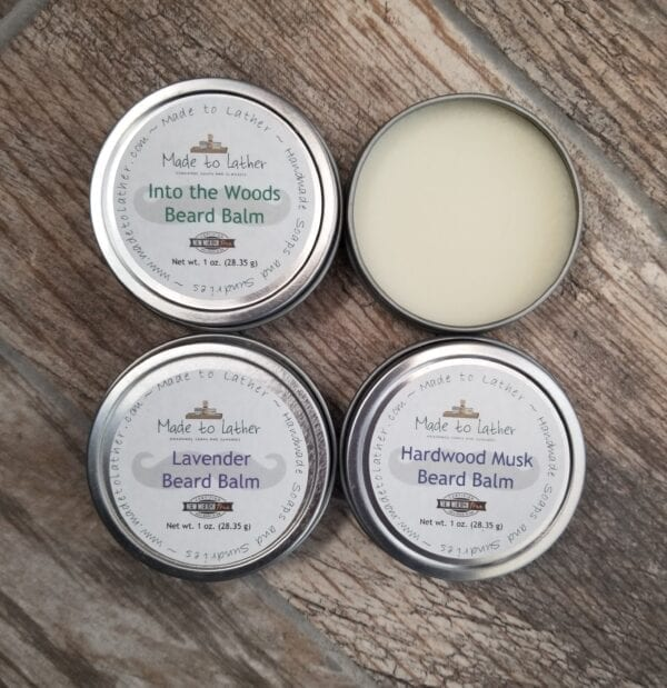 set of four beard balms by Made to Lather