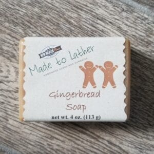 bar of gingerbread soap by Made to Lather