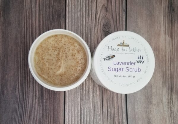2 jars of lavender sugar scrubs by made to lather