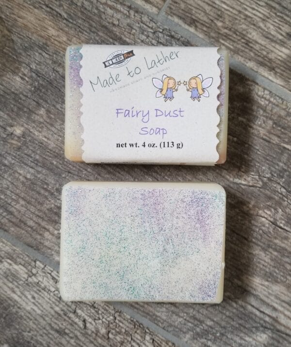 two bars of fairy dust by made to lather
