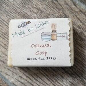 bar of oatmeal soap