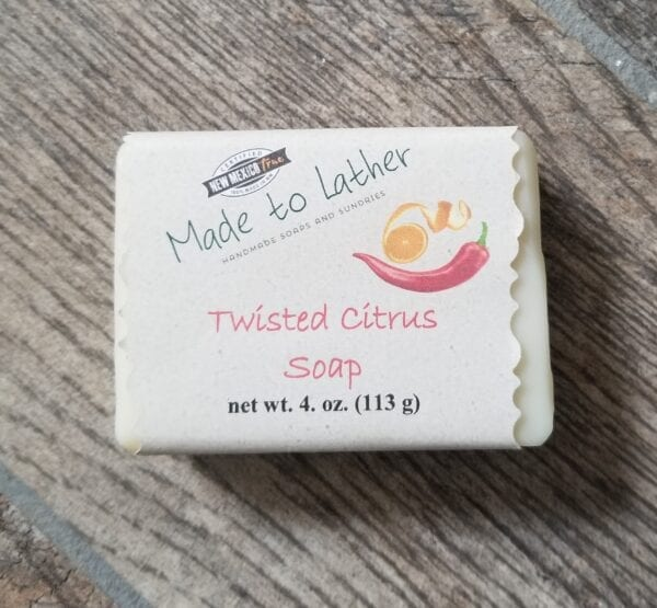 a bar of Made to Lather's Twisted Citrus soap