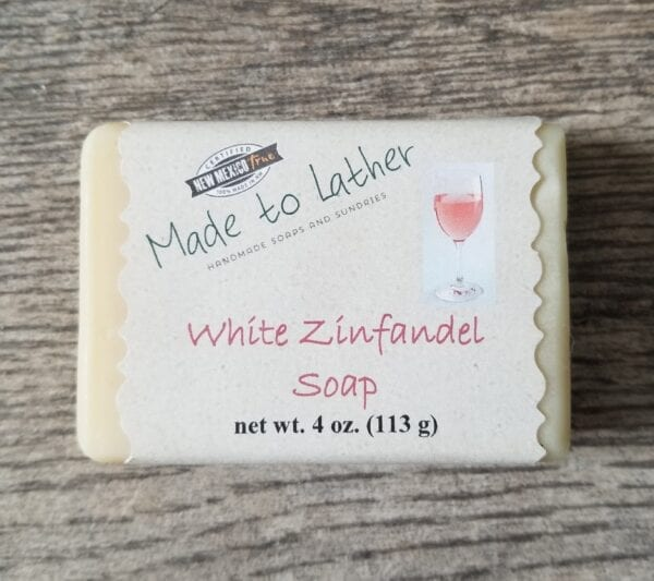 a bar of Made to Lather's White Zinfandel soap