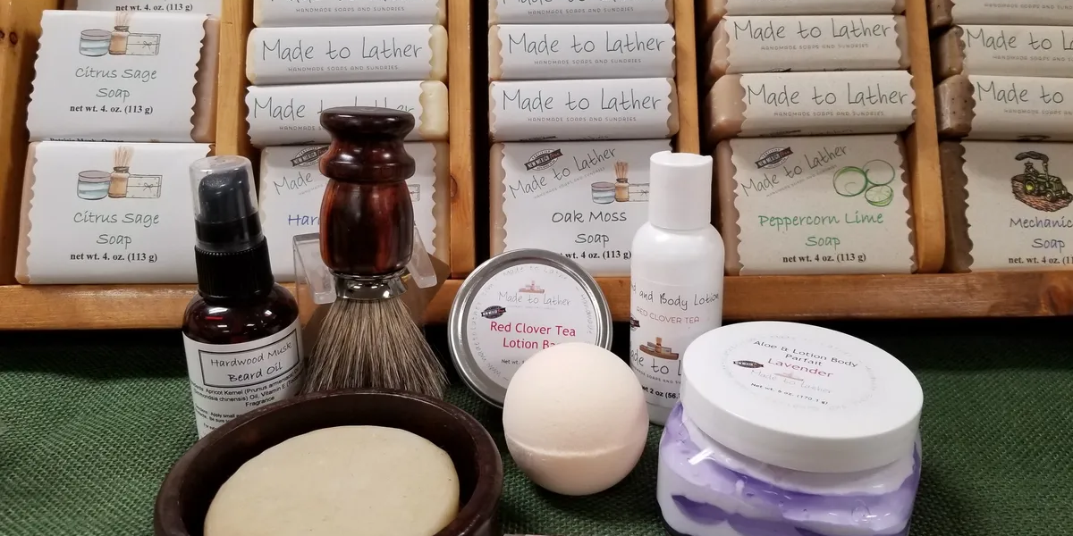 Collection of Made to Lather Bath products